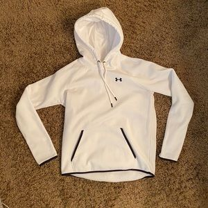 White and black under armour hoodie